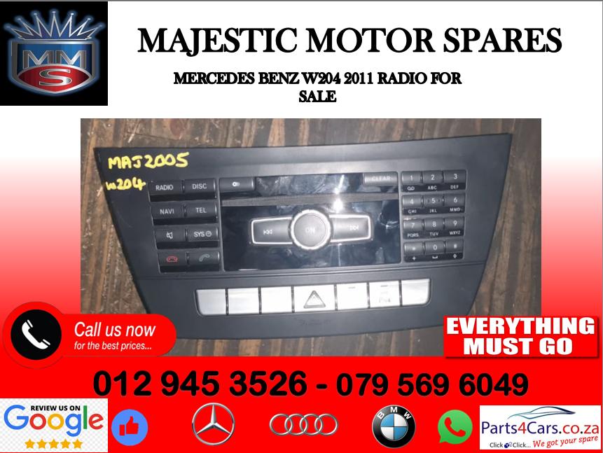 Mercedes benz w204 radio for sale
