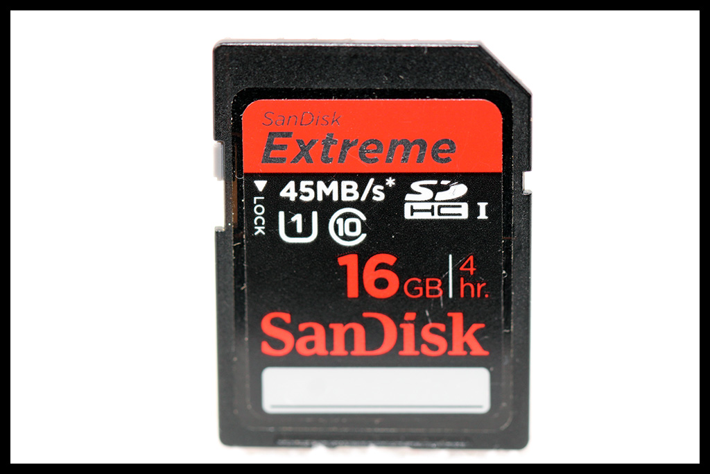 SanDisk Extreme 16GB SDHC - Class 10 @ 45MB/s