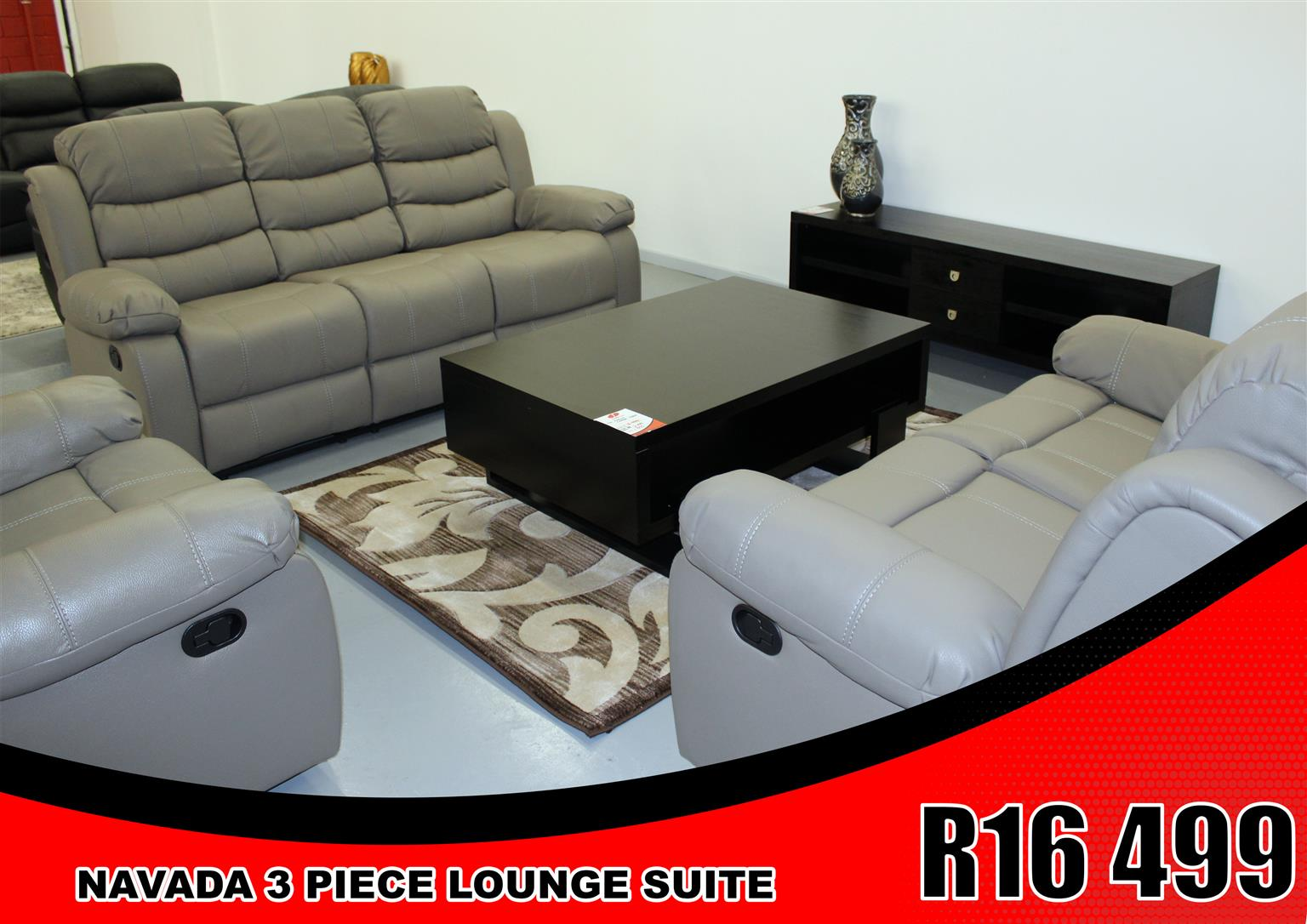 LOUNGE SUITE BRAND NEW NAVADA FOR ONLY R 16 499 !!!!!!!!!!!!!!!!!!!!!