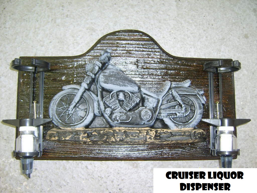 Liquor Dispenser: Cruiser Motorbike with 2 Optics. Brand New Product.