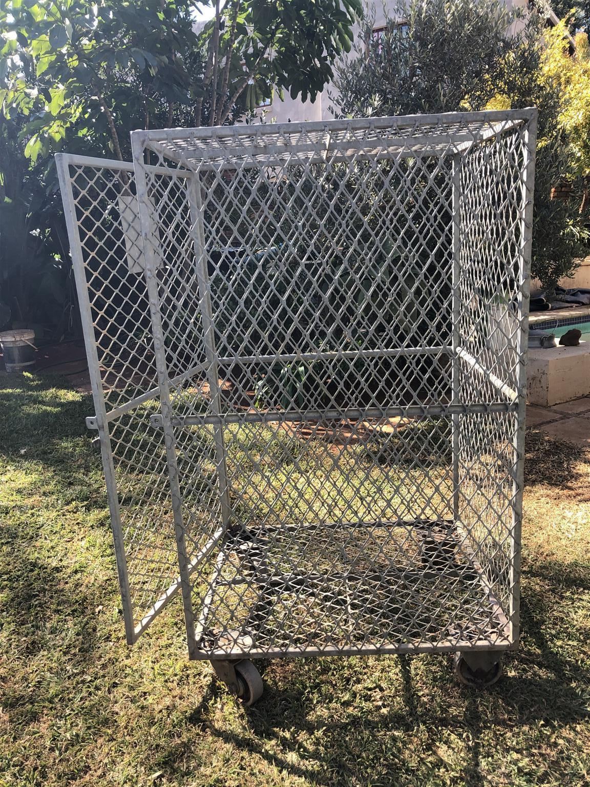 Galvanized steel rabbit cage for sale.