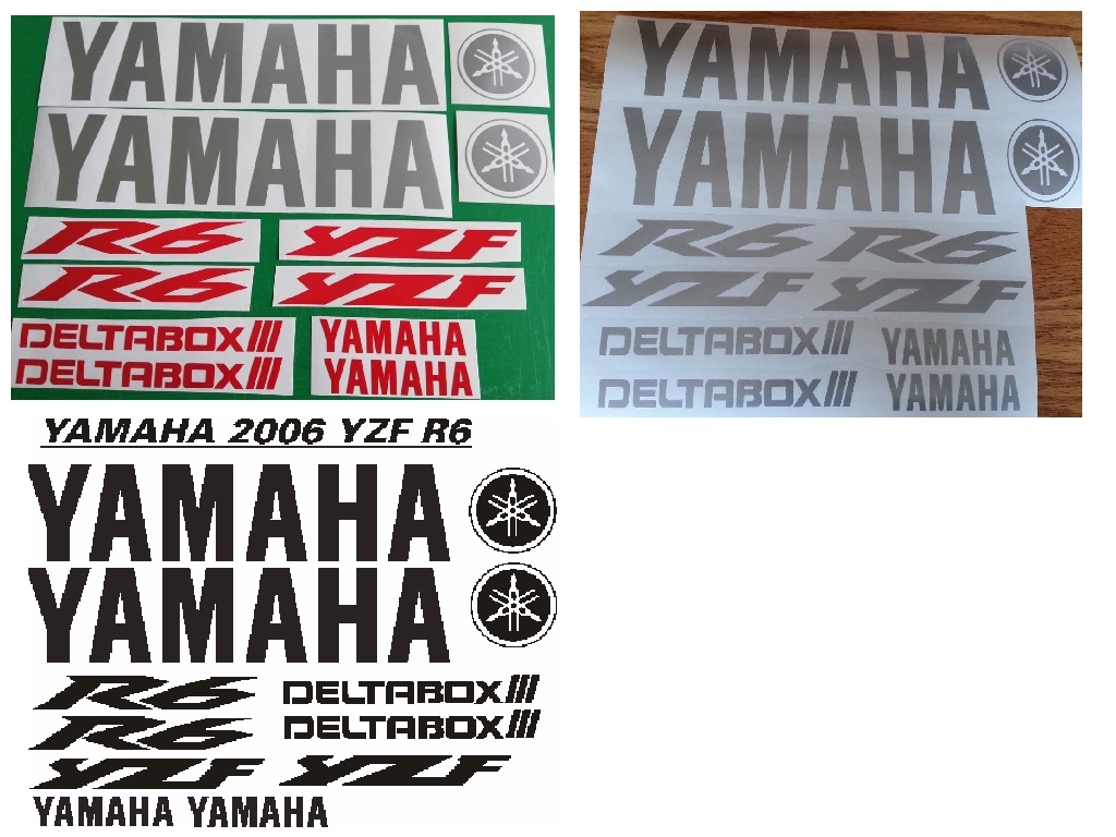 Decals graphics stickers kits for a 2006 Yamaha YZF R6