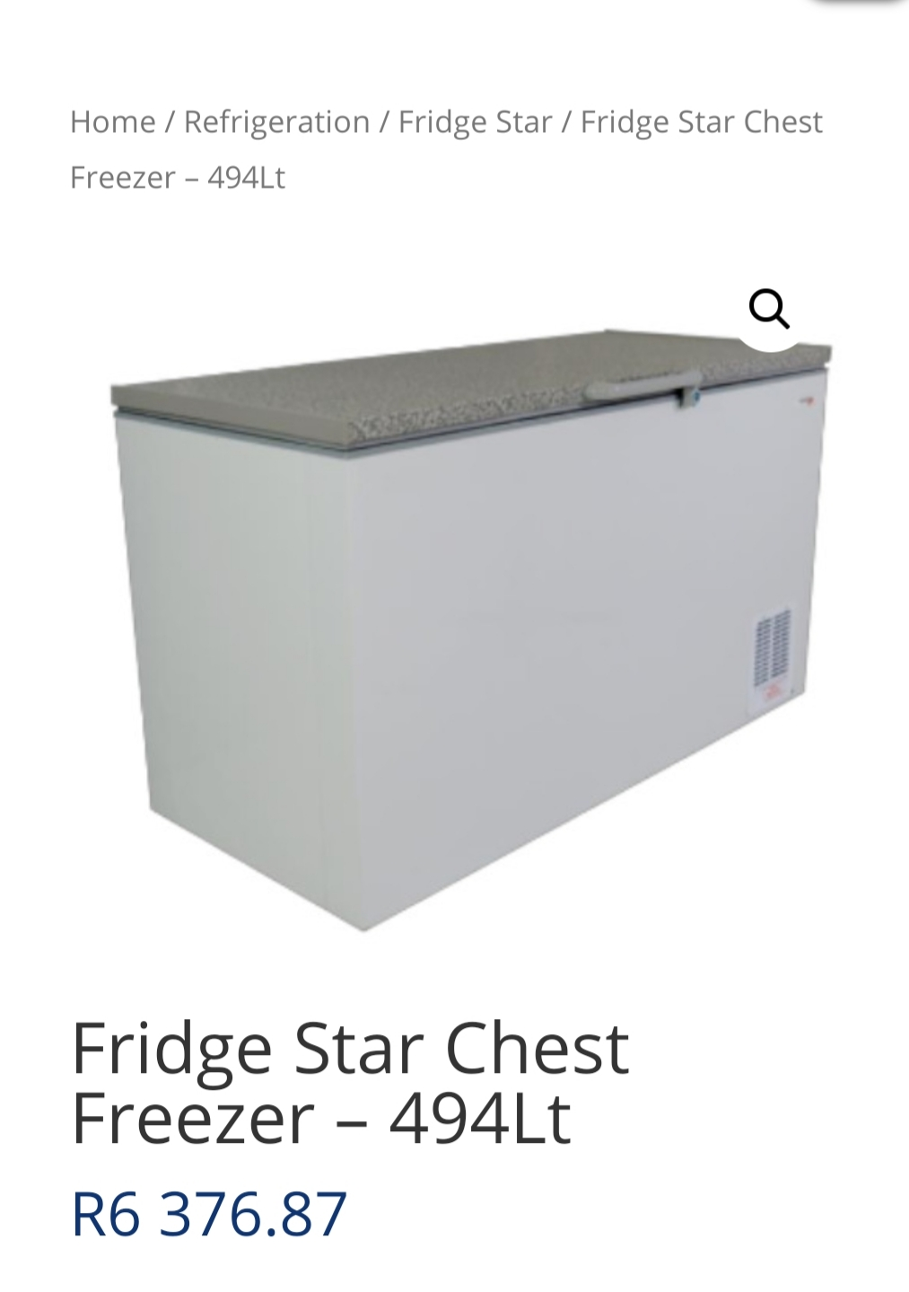 Used Fridge Star Chest Freezer 530L for sale.