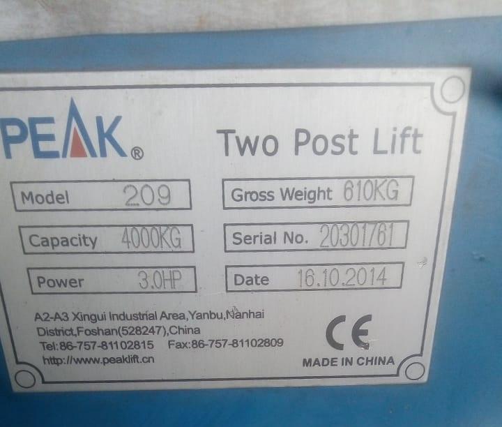 2 pillar vehicle hoist
