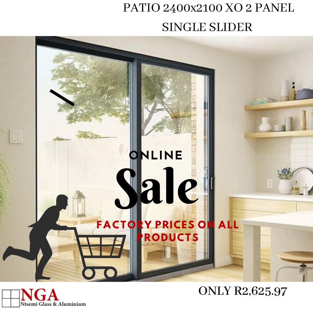Patio Sliding Door XO 2 Panel | Factory Price Promotion
