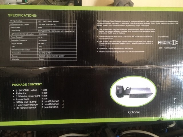 CMH 315 watts light ficture