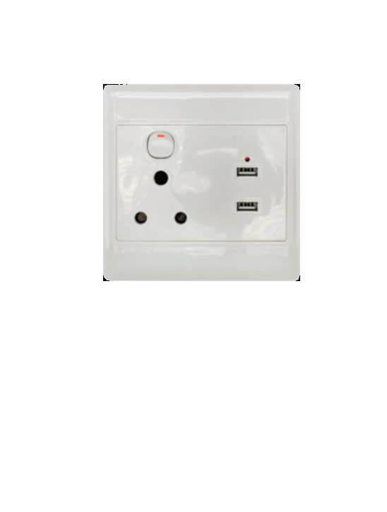 Elect Plug with 2 usb ausama s2000