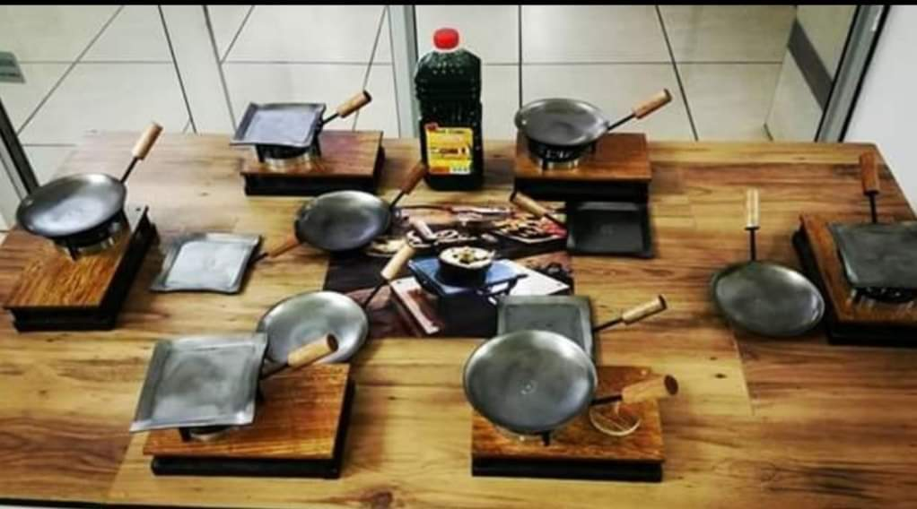 Beautiful practical laminated wood cooking stands