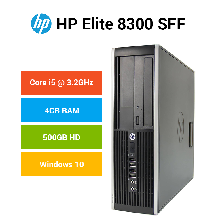 HP Compaq Elite 8300 - SFF - Core i5 3 2 GHz - 4 GB - 500 GB-usb-lan-vga  intel graphics-power supply