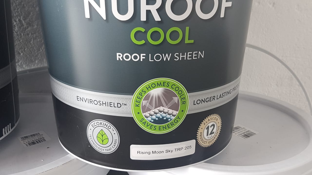 Plascon Nuroof Cool - Roof Low Sheen Colour: Rising Moon Sky TRP 205 (20 litres X 5) for sale