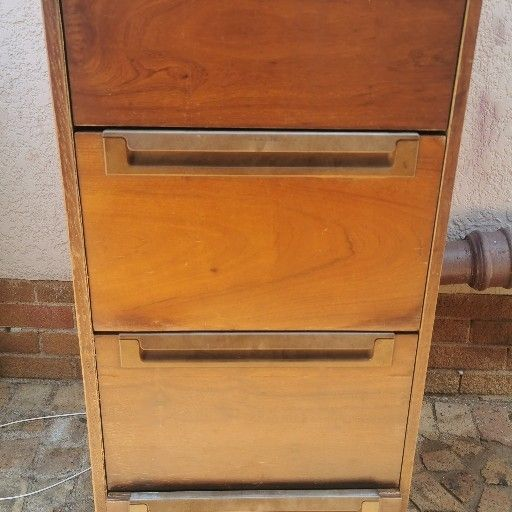 wooden desk with cupboard for sale