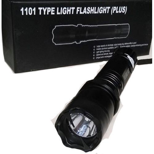 Stun gun with flash light