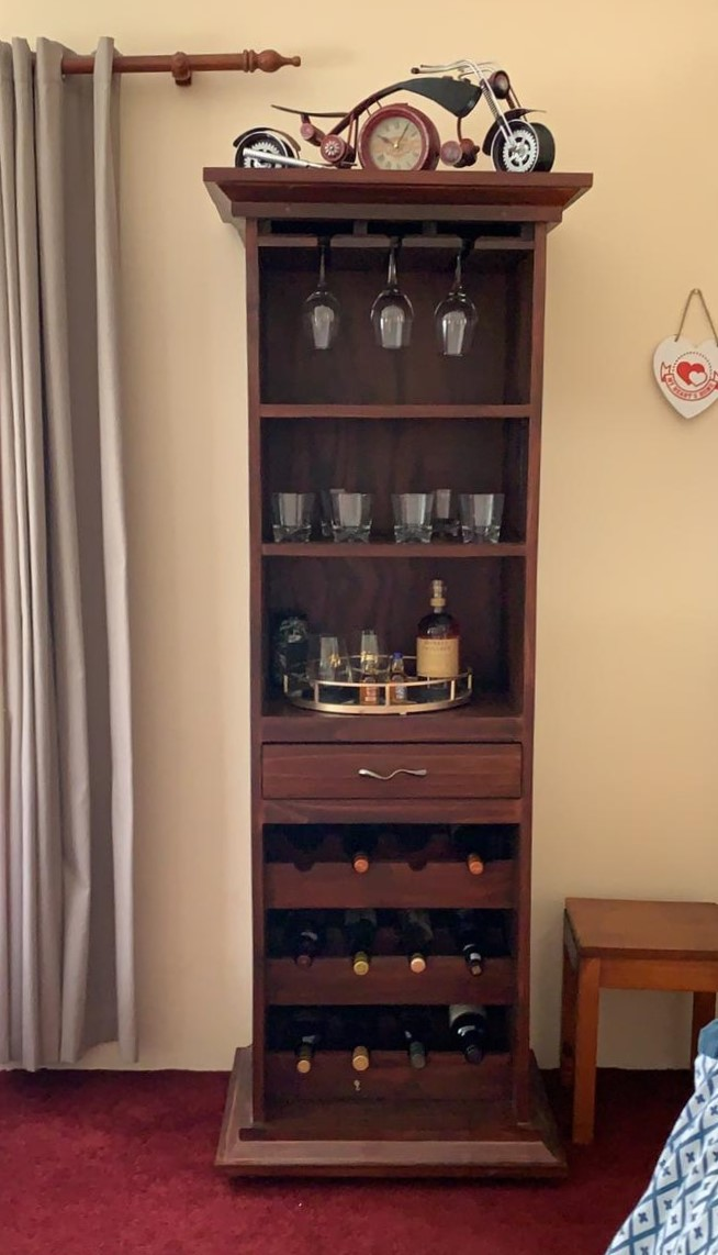 Liquor and or wine cabinet Cottage series 1900 - Stained
