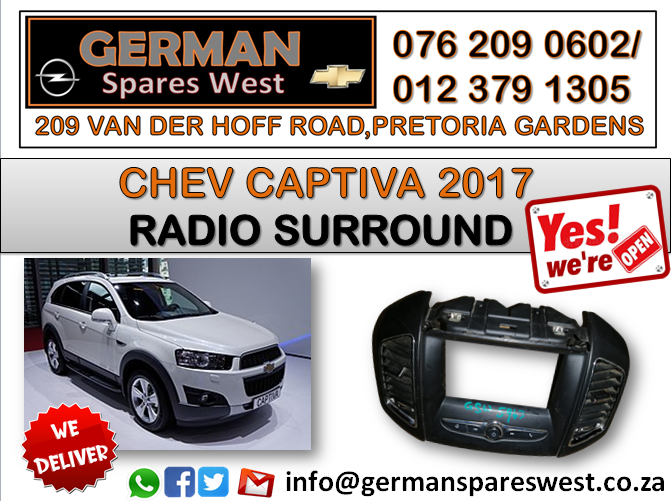 CHEV CAPTIVA 2017 USED RADIO SURROUND FOR SALE