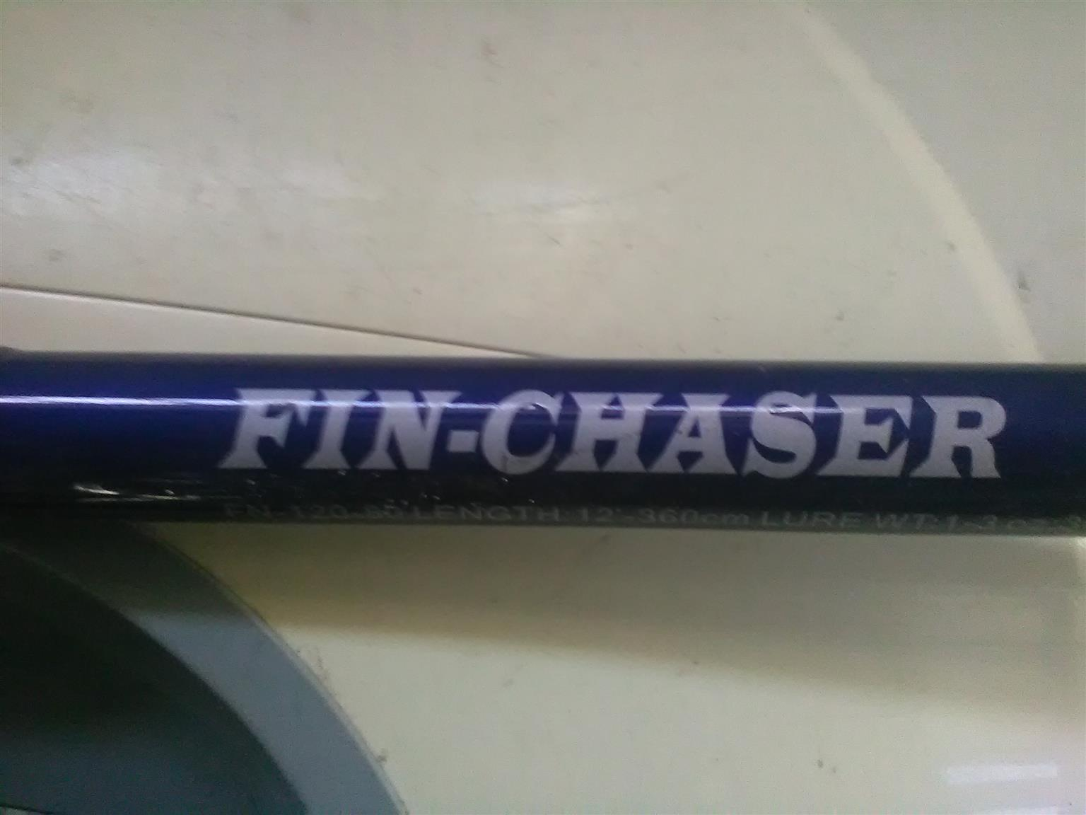 OKUMA FIN CHASER ROD AND REEL COMBO FOR SALE.