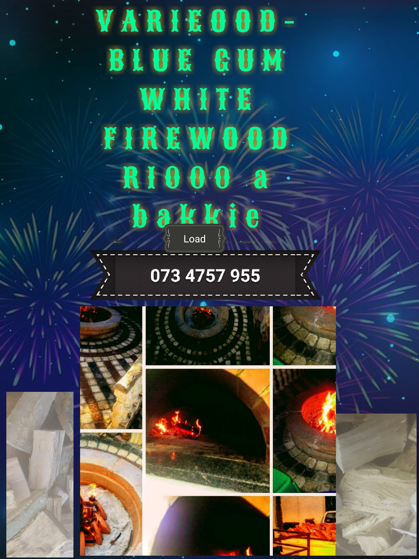 BLUE GUM FIREWOOD for sale bakkie load R1000 free delivery