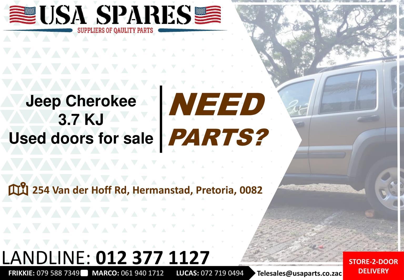 Jeep Cherokee 3.7 KJ 2002-07 used doors for sale