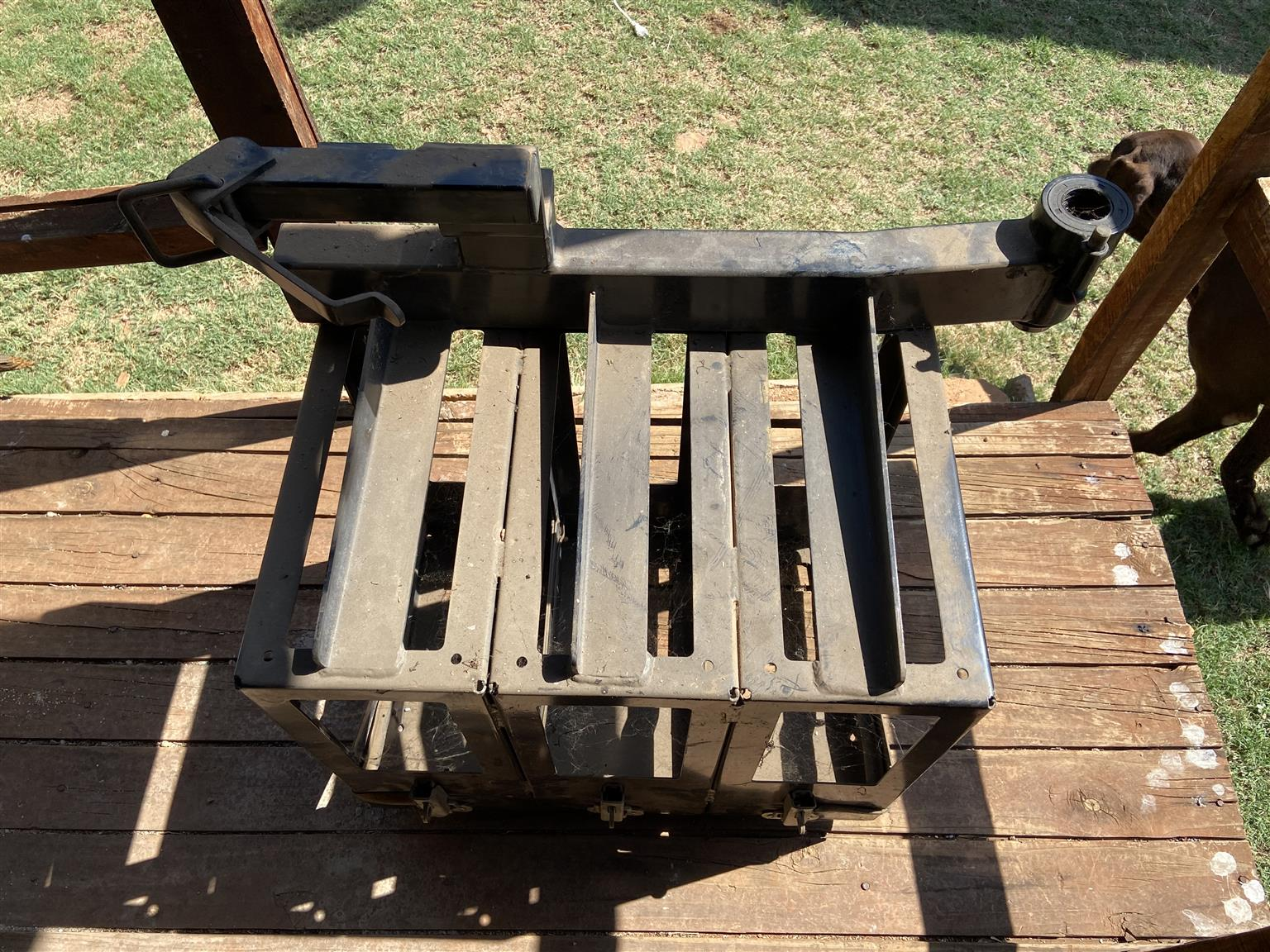 3x Jerry can holder with swing arm