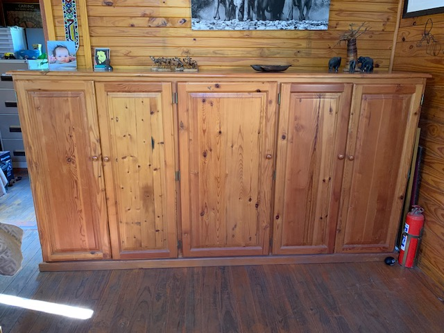 Cupboard with 5 drawers Oregon Pine