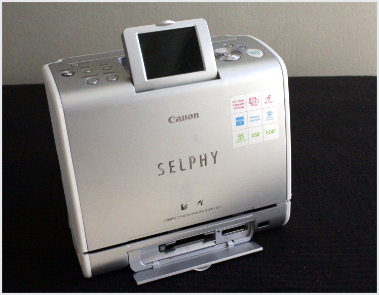 CANON SELPHY Portable Instant Printer with battery
