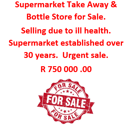 Supermarket / Take Away and Bottle Store for Sale
