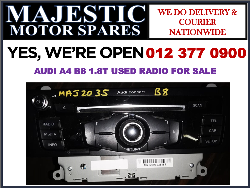 Audi A4 B8 1.8T used radio for sale