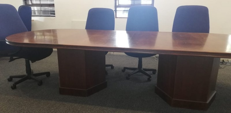 Boardroom table with 8 chairs for sale