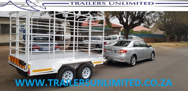 TRAILERS UNLIMITED CATTLE TRAILERS.  3000 x 1700 x 1800 CATTLE TRAILER.