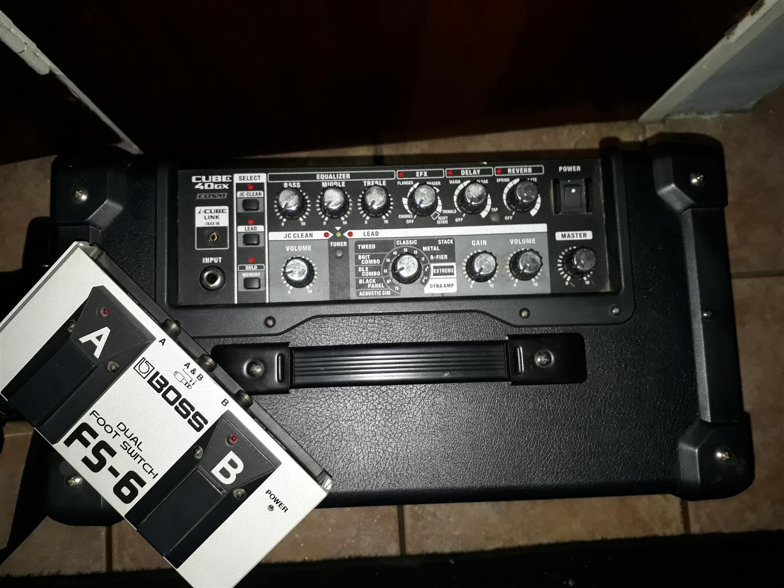 Roland CUBE-40GX Amp + ibanez kiko sp2 + footswitch