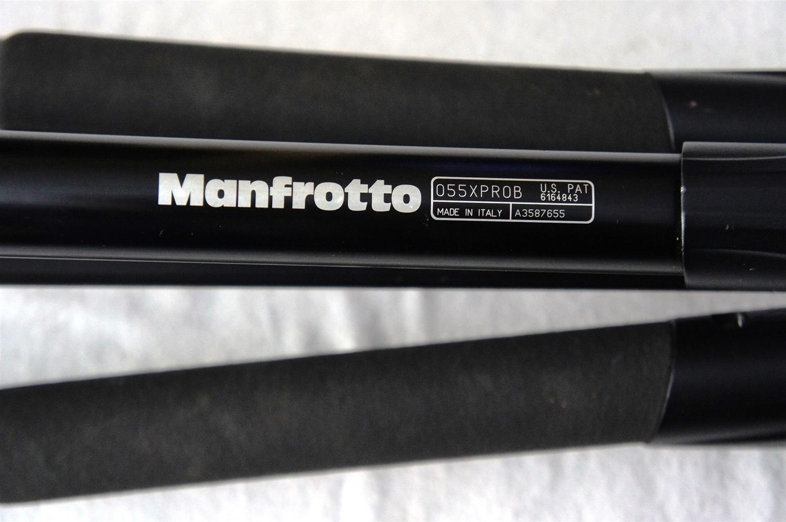 Manfrotto 055XPROB Tripod legs with Manfrotto 804Rc2 Head
