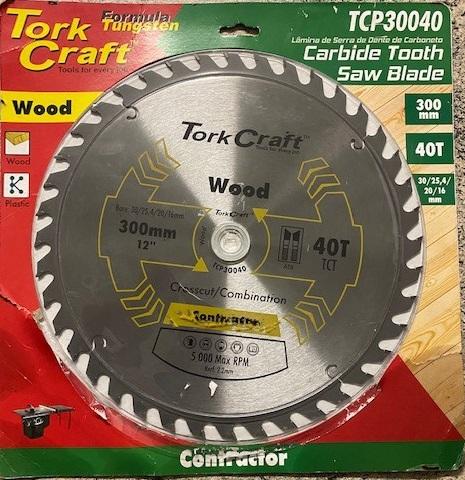 TORK CRAFT BLADE CONTRACTOR 300 X 40T 30/1/20/16 CIRCULAR SAW TCT