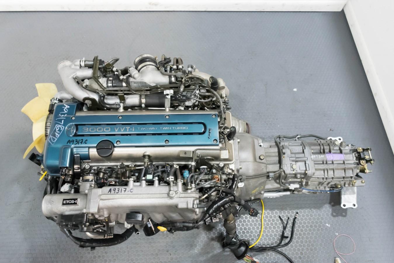 JDM Supra 2JZ-GTE Twin Turbo VVTi Engine with V161 6 Speed Trans