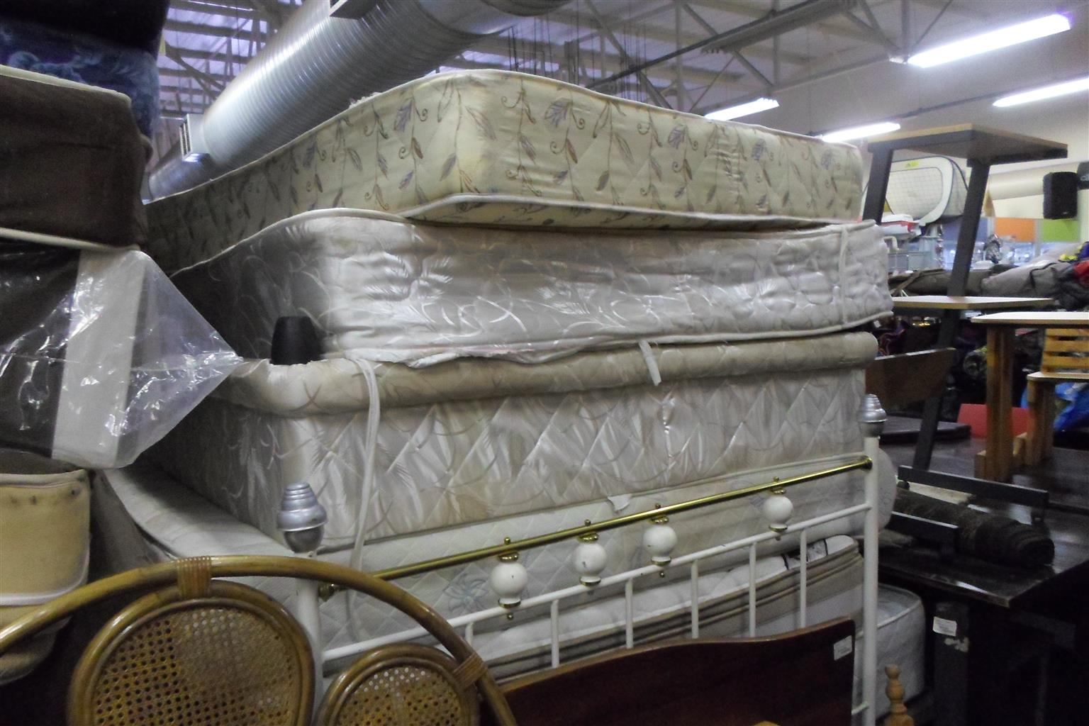 Various second hand Base and Mattresses