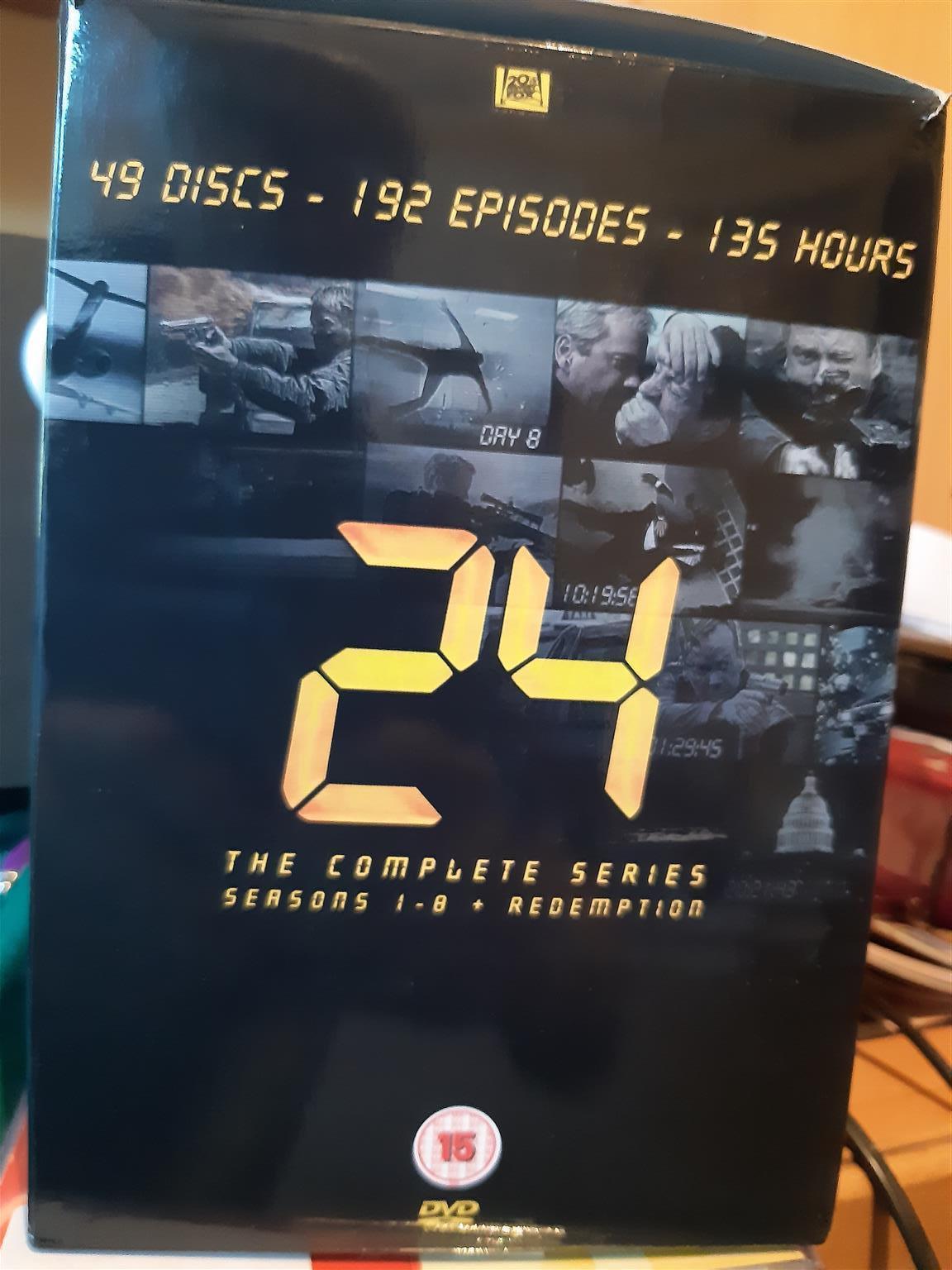 24 Series full set. 8 season plus movie.