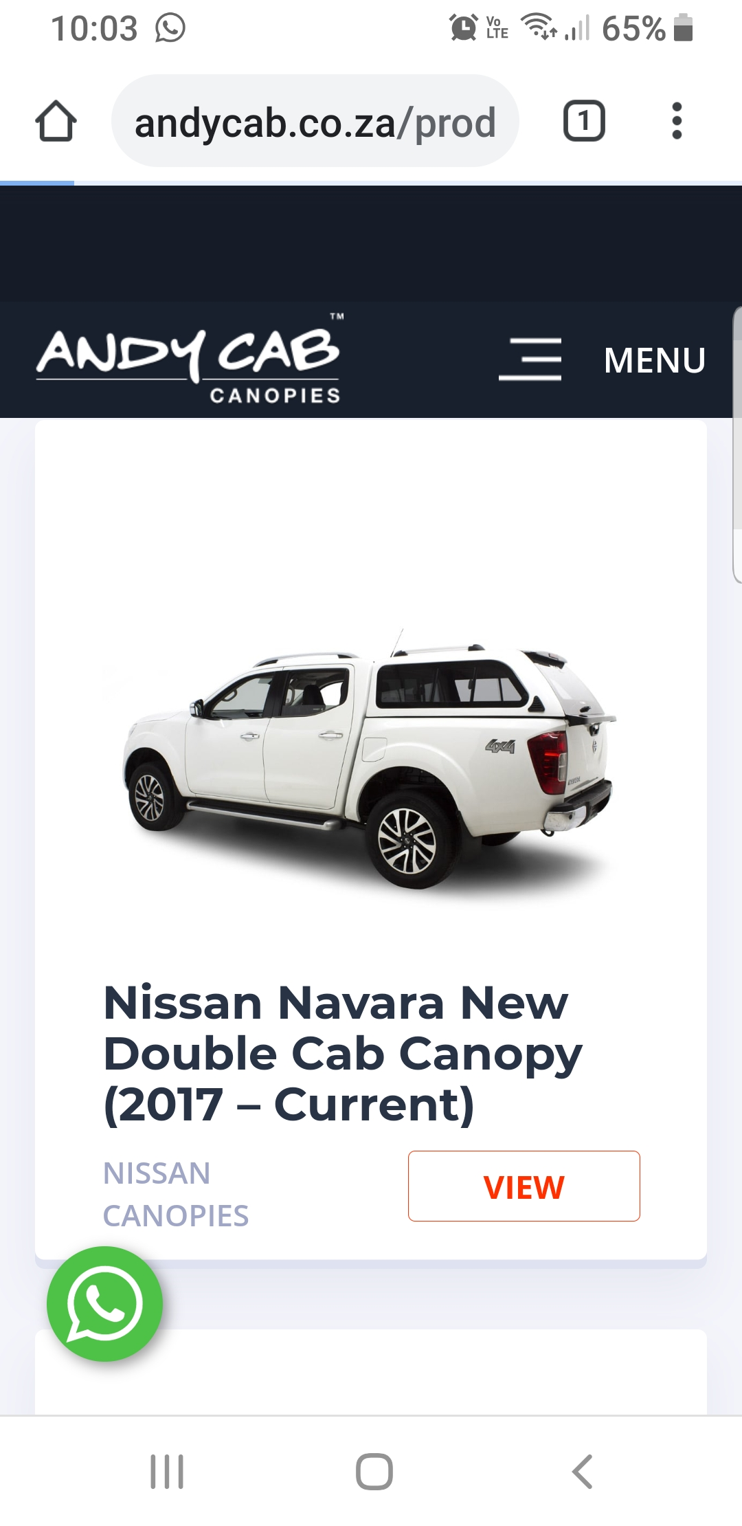 I buy canopies for cash.