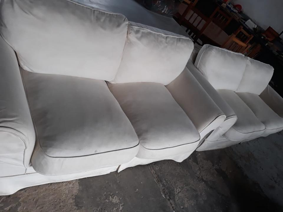 2 White 2 seater couches