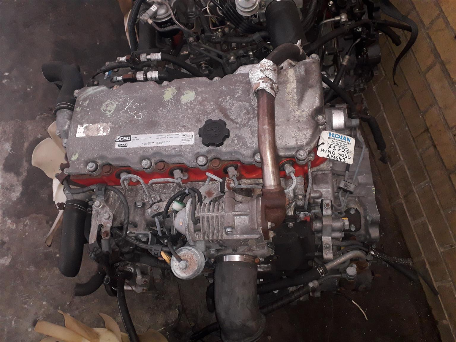 HINO SO5D COMPLETE IMPORT LOW MILEAGE ENGINES