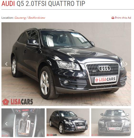 2012 Audi Q5 2.0 TFSI QUATTRO STRONIC