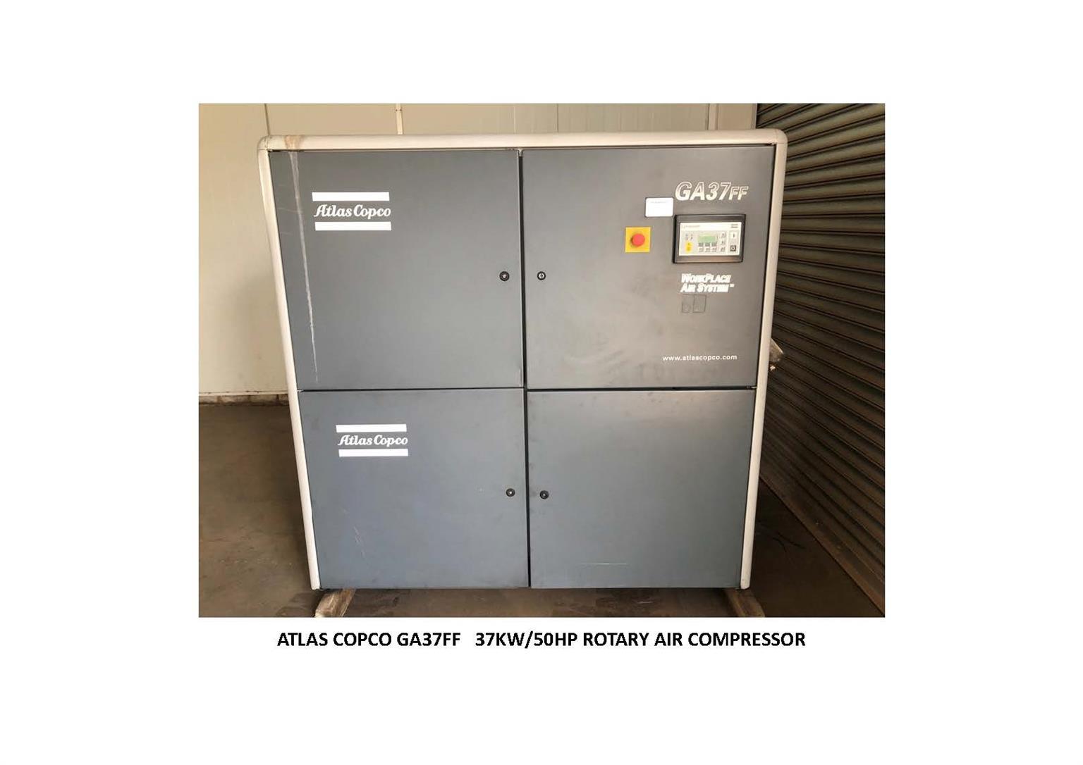 Atlas Copco  GA37 with Receiver