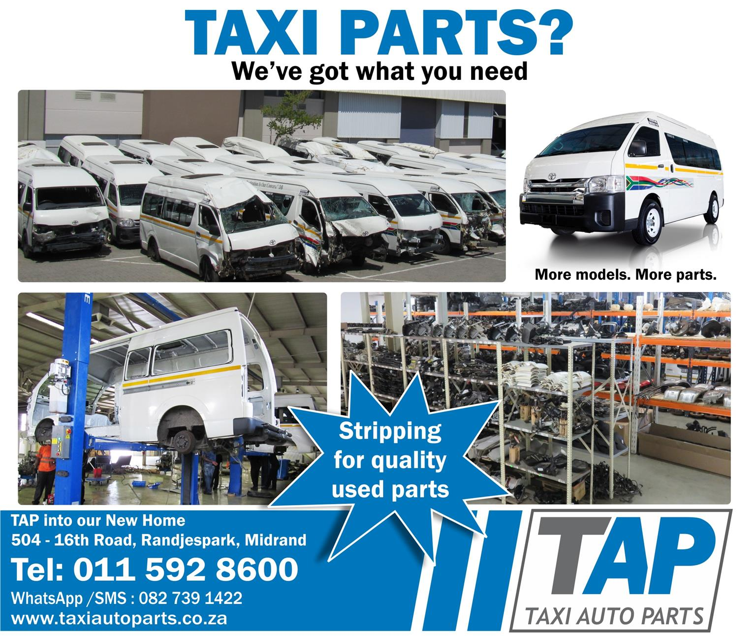 TAP into our New Home for quality used spares - Taxi Auto Parts