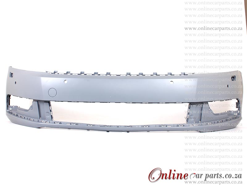 VW Passat MK 8 Front Bumper With Washer and PDC Holes Primed P1 2011-