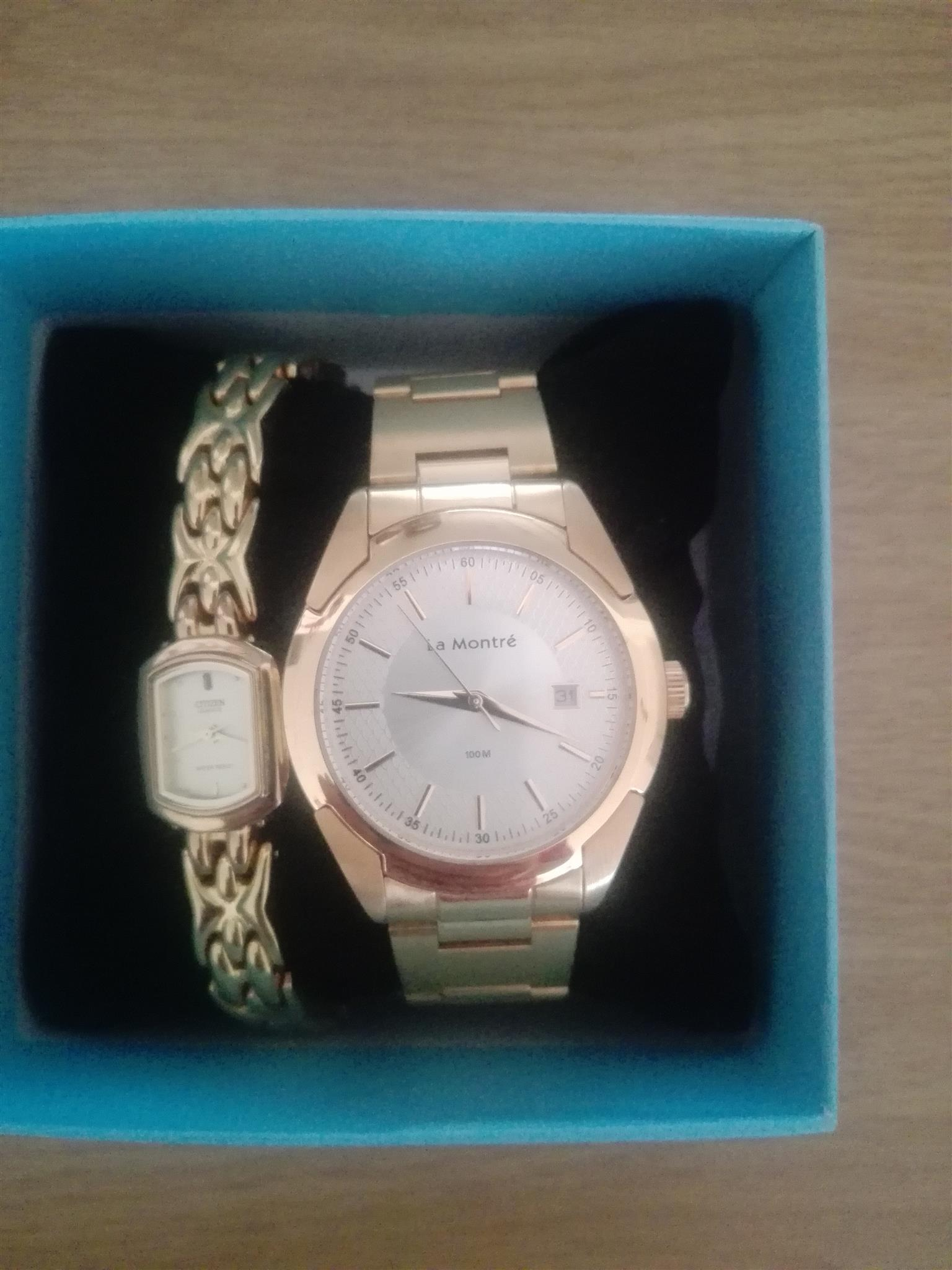 Ladies and Gents Gold watches