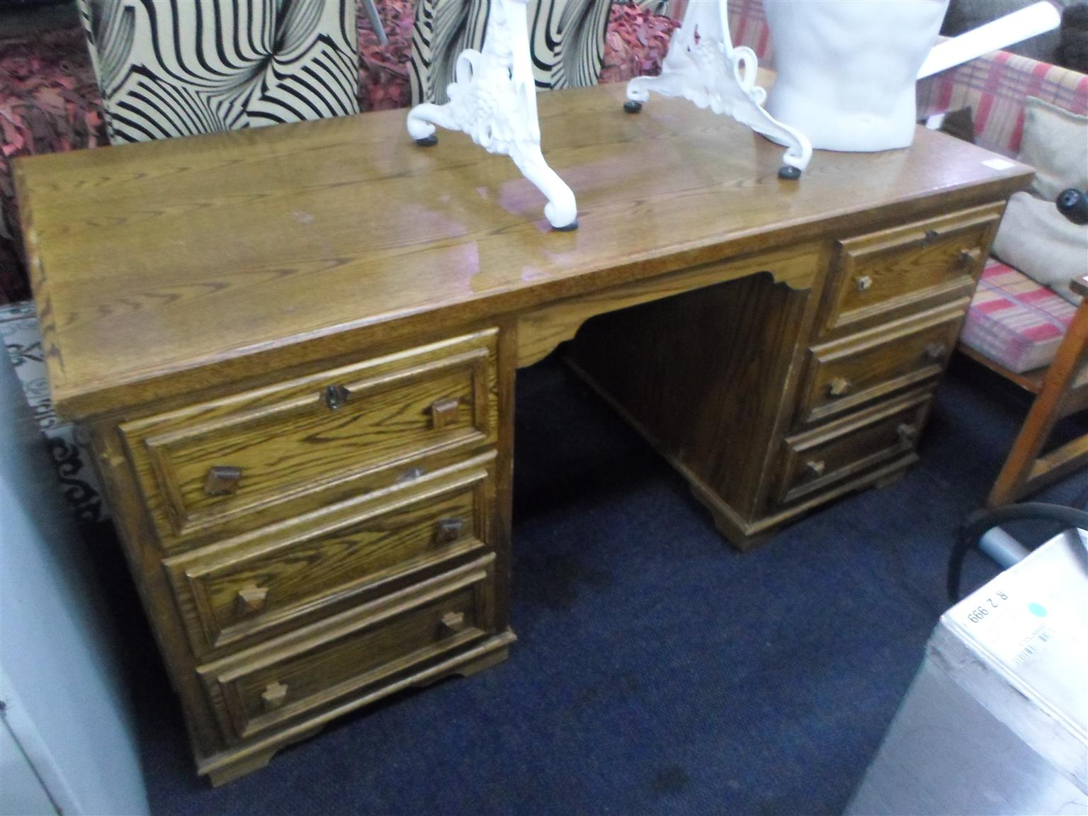 Wooden 6 Drawer Desk