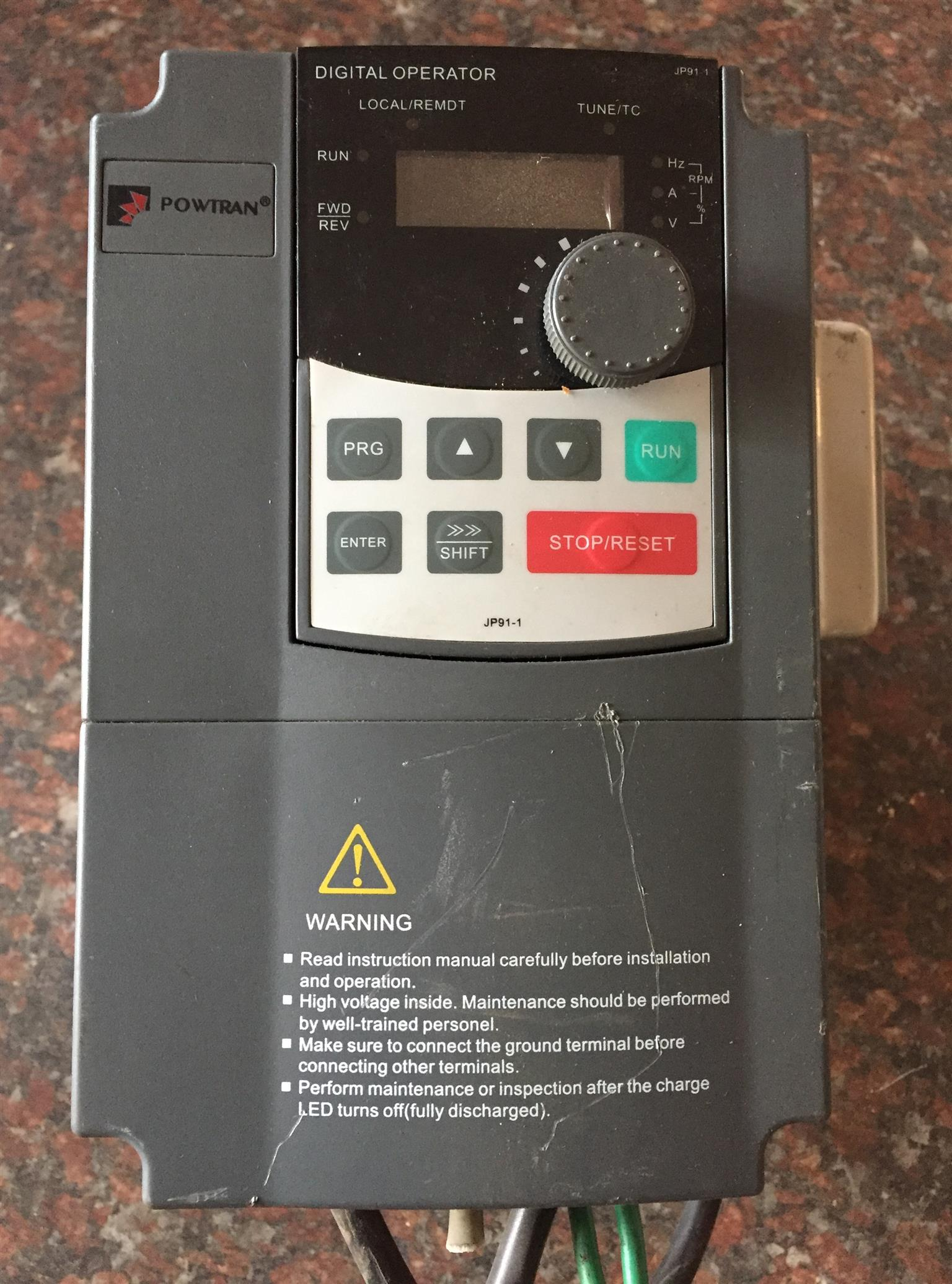 VFD Variable Frequency Drive / Inverter / Speed Control