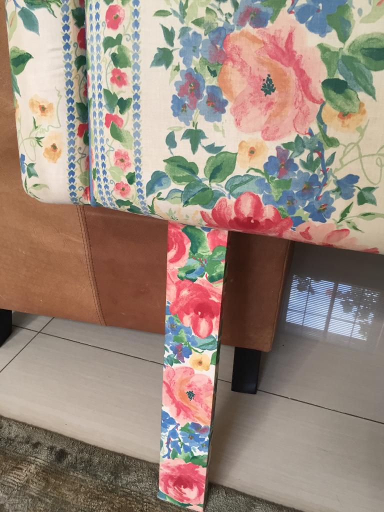 Padded single bed headboard - Low price due to condition - see pictures below.
