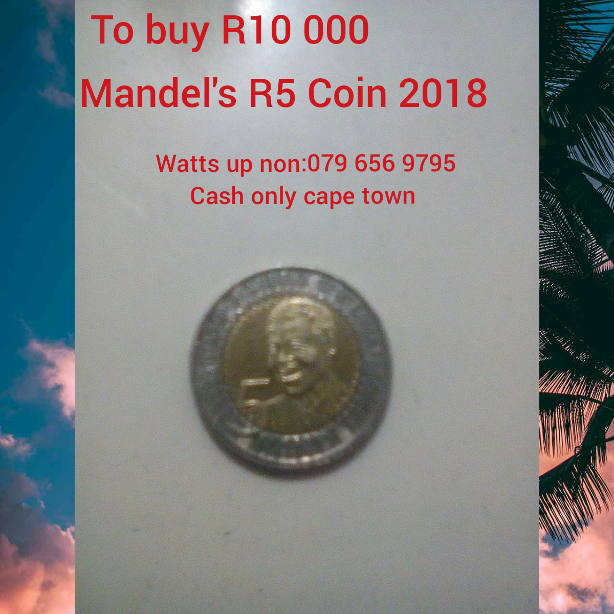Sell R5 coin 2018'mandelas head