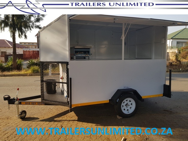 TRAILERS UNLIMITED THE BEST MOBILE TRAILERS IN AFRICA. 2400 X 1800 X 1800mm CATERING TRAILERS.