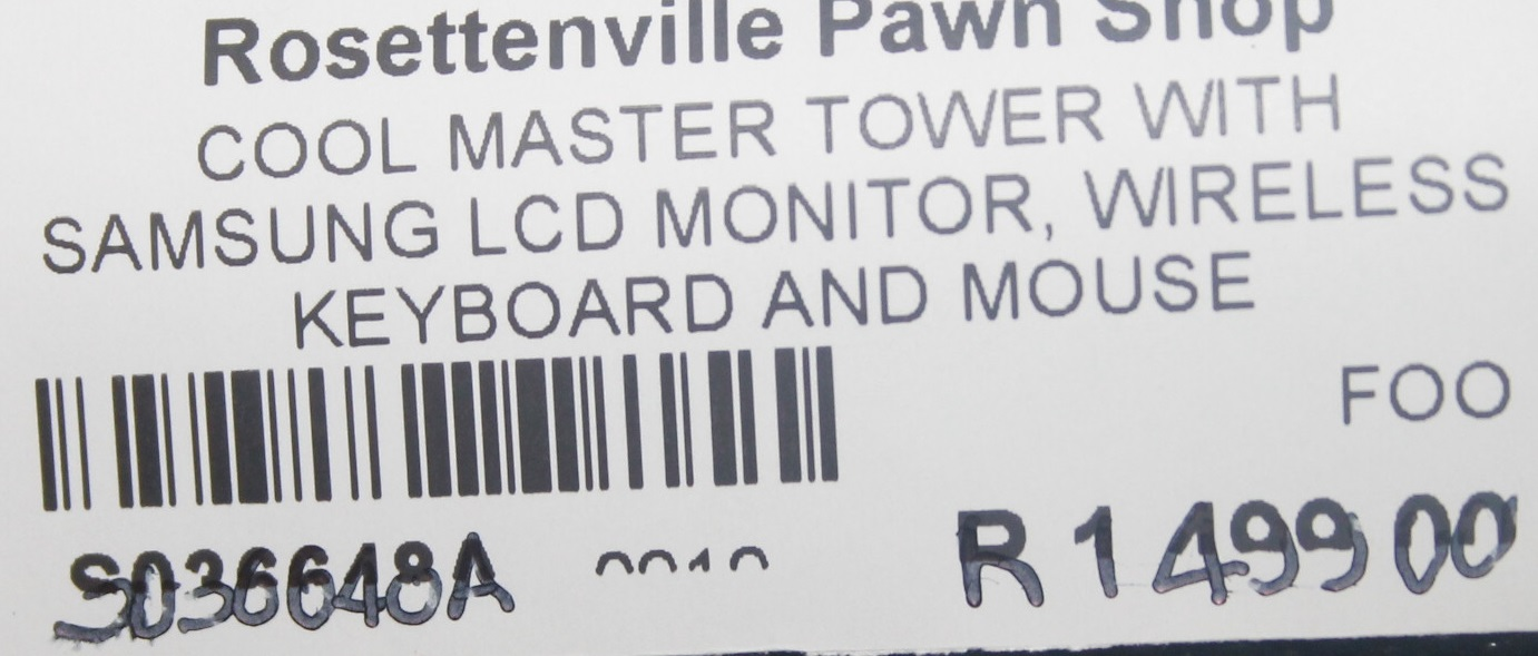 Cool master tower with samsung lcd monitor, wireless keyboard and mouse S036648A #Rosettenvillepawnshop