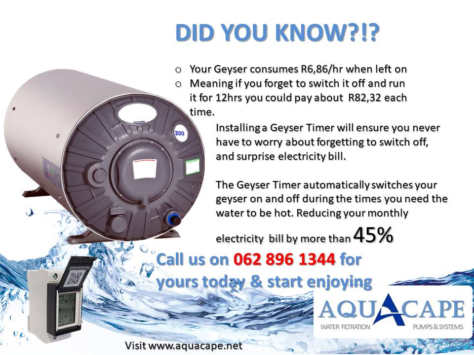 AquAcape CBi Geyser Timer Supply & Install