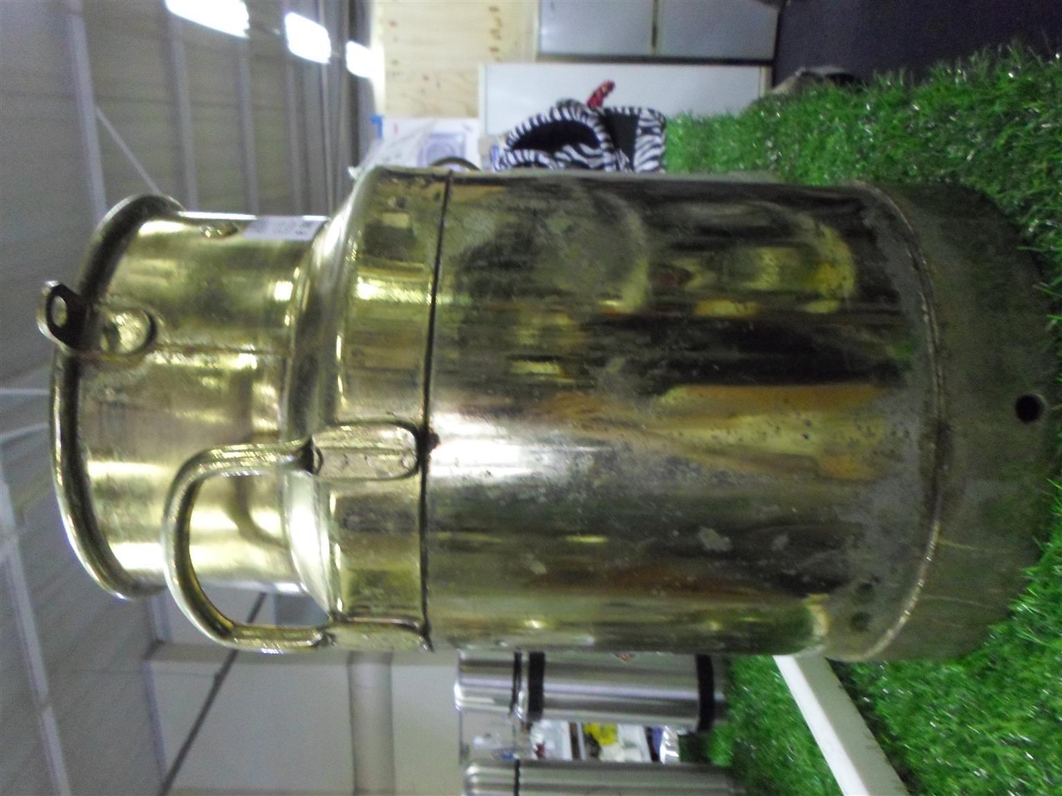 Brass Milk Can - 5 Gal